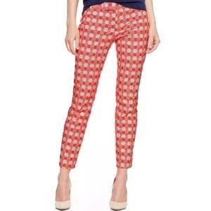 GAP Slim Cropped Hexagon Print Pants